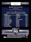 2011 Topps 60 #34 T-60 Mark Reynolds  Back Thumbnail