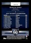 2011 Topps 60 #98 T-60 Marlon Byrd  Back Thumbnail