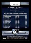 2011 Topps 60 #122 T-60 Roberto Alomar  Back Thumbnail