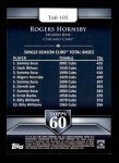 2011 Topps 60 #105 T-60 Rogers Hornsby  Back Thumbnail