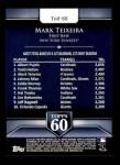 2011 Topps 60 #88 T-60 Mark Teixeira  Back Thumbnail
