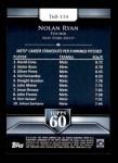 2011 Topps 60 #114 T-60 Nolan Ryan  Back Thumbnail