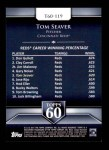 2011 Topps 60 #119 T-60 Tom Seaver  Back Thumbnail