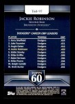 2011 Topps 60 #97 T-60 Jackie Robinson  Back Thumbnail