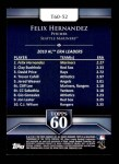 2011 Topps 60 #52 T-60 Felix Hernandez  Back Thumbnail
