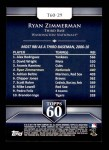 2011 Topps 60 #29 T-60 Ryan Zimmerman  Back Thumbnail