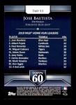 2011 Topps 60 #53 T-60 Jose Bautista  Back Thumbnail