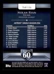 2011 Topps 60 #116 T-60 Nolan Ryan  Back Thumbnail