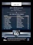 2011 Topps 60 #101 T-60 Joe DiMaggio  Back Thumbnail