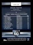 2011 Topps 60 #120 T-60 Ozzie Smith  Back Thumbnail