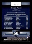 2011 Topps 60 #69 T-60 David Price  Back Thumbnail