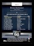 2011 Topps 60 #1 T-60 Ryan Howard  Back Thumbnail