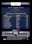 2011 Topps 60 #8 T-60 Felix Hernandez  Back Thumbnail