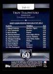 2011 Topps 60 #11 T-60 Troy Tulowitzki  Back Thumbnail