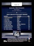 2011 Topps 60 #15 T-60 Jason Heyward  Back Thumbnail
