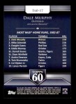 2011 Topps 60 #17 T-60 Dale Murphy  Back Thumbnail