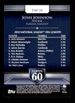 2011 Topps 60 #24 T-60 Josh Johnson  Back Thumbnail