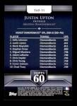 2011 Topps 60 #31 T-60 Justin Upton  Back Thumbnail