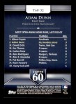 2011 Topps 60 #32 T-60 Adam Dunn  Back Thumbnail