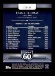 2011 Topps 60 #35 T-60 Frank Thomas  Back Thumbnail