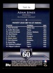 2011 Topps 60 #36 T-60 Adam Jones  Back Thumbnail