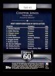 2011 Topps 60 #43 T-60 Chipper Jones  Back Thumbnail