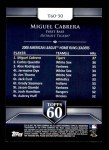 2011 Topps 60 #50 T-60 Miguel Cabrera  Back Thumbnail