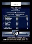 2011 Topps 60 #61 T-60 Tom Seaver  Back Thumbnail