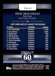 2011 Topps 60 #65 T-60 Don Mattingly  Back Thumbnail