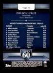 2011 Topps 60 #73 T-60 Nelson Cruz  Back Thumbnail