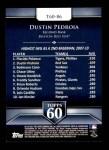 2011 Topps 60 #86 T-60 Dustin Pedroia  Back Thumbnail