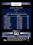 2011 Topps 60 #89 T-60 Jered Weaver  Back Thumbnail