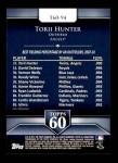 2011 Topps 60 #94 T-60 Torii Hunter  Back Thumbnail