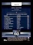 2011 Topps 60 #95 T-60 Jon Lester  Back Thumbnail