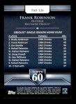 2011 Topps 60 #126 T-60 Frank Robinson  Back Thumbnail
