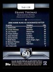 2011 Topps 60 #128 T-60 Frank Thomas  Back Thumbnail