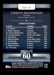 2011 Topps 60 #131 T-60 Christy Mathewson  Back Thumbnail