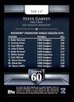 2011 Topps 60 #137 T-60 Steve Garvey  Back Thumbnail