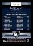 2011 Topps 60 #138 T-60 Roger Maris  Back Thumbnail