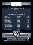 2011 Topps 60 #142 T-60 Tyler Chatwood  Back Thumbnail