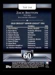 2011 Topps 60 #144 T-60 Zach Britton  Back Thumbnail