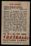 1951 Bowman #36  Rob Goode  Back Thumbnail
