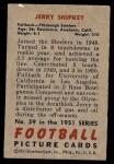 1951 Bowman #59  Jerry Shipkey  Back Thumbnail