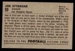 1952 Bowman Small #99  Joe Stydahar  Back Thumbnail