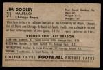1952 Bowman Small #31  Jim Dooley  Back Thumbnail