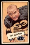 1952 Bowman Small #72  John Schweder  Front Thumbnail