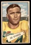 1952 Bowman Small #9  Joe Spencer  Front Thumbnail