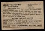 1952 Bowman Small #137  Bob Waterfield  Back Thumbnail