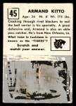 1951 Topps Magic #45  Armand Kitto  Back Thumbnail