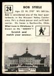 1951 Topps Magic #24  Bob Steele  Back Thumbnail